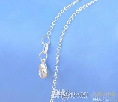 """Wholesale- New Jewelry Chains 18"""" 925 Sterling Silver Link Necklace Set Chains+Lobster Clasps Mix 20 Styles"""