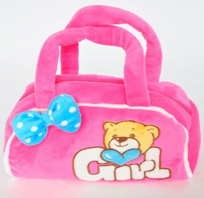 Children Handbags Girl Cloth Bags Pink Color Birthday Gift Baby ...