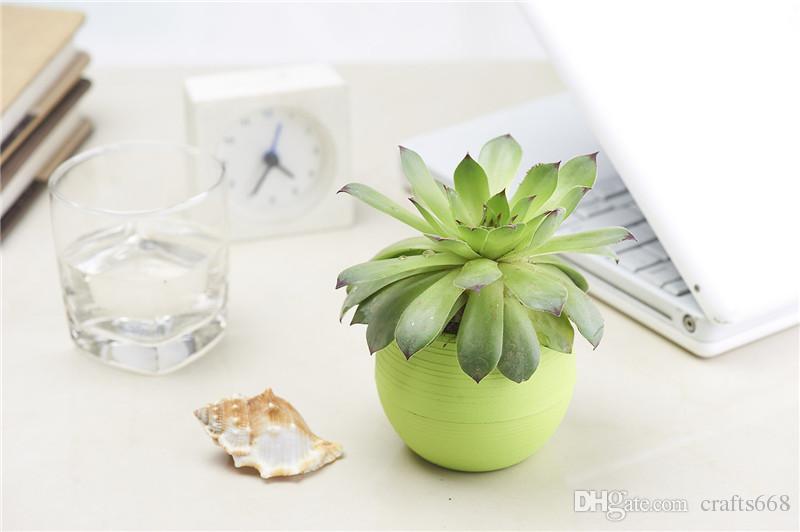 desktop green plants Flower pots planters Home decoration plastic flower vases Mini pots new year bonsai wedding decorative pots