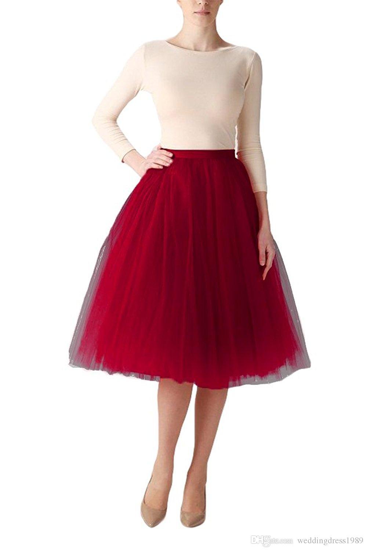 Fashion Color Short A-Line Tutu Tulle Muiti-Color Party Prom Skirt Petticoat Half Slip Underskirt Stock Cheap