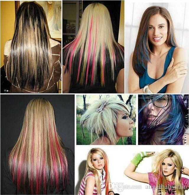 Wholesale new 20 highlight straight colored colorful single clip wholesale new 20 highlight straight colored colorful single clip on in synthetic hair extension hair piece cheap red hair extensions red and black hair pmusecretfo Gallery