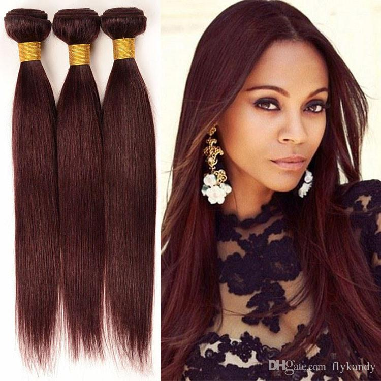 Sassy Silky Straight 10 28 Burgundy Peruvian Virgin Sew In Hair