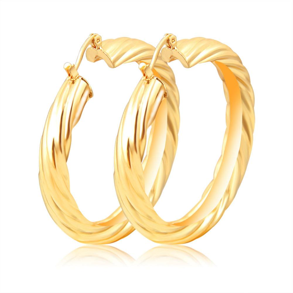 9f322df67a1d 2019 Wholesale Pendientes Aros Mujer Ohrringe Big Gold Color Fashion Hoop  Earrings Women Girls Luxury Wedding Round Basketball Wifves Earring From  Harrieta