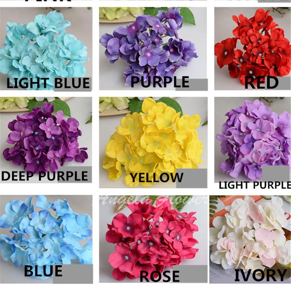 Wholesale Color Luxury Artificial Hydrangea Silk Flower Amazing