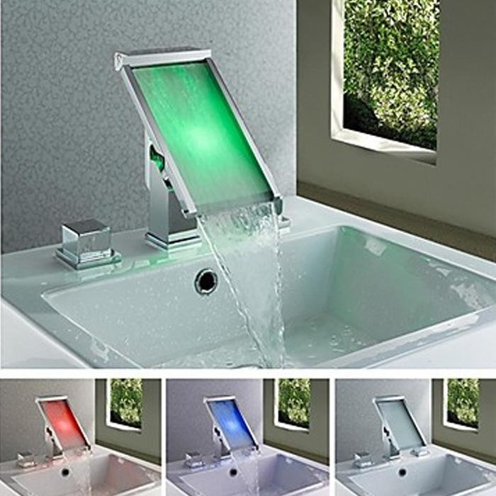 Best Temperature Led Changing Bathroom Basin Faucet Sink Face Tap ...