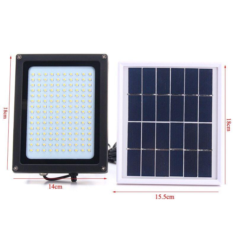 8W 150LEDs Ultra Bright Solar Power LED Flood Light Lamp Motion Sensor Outdoor Garden Security Wall Lamp Street Light Floodlight