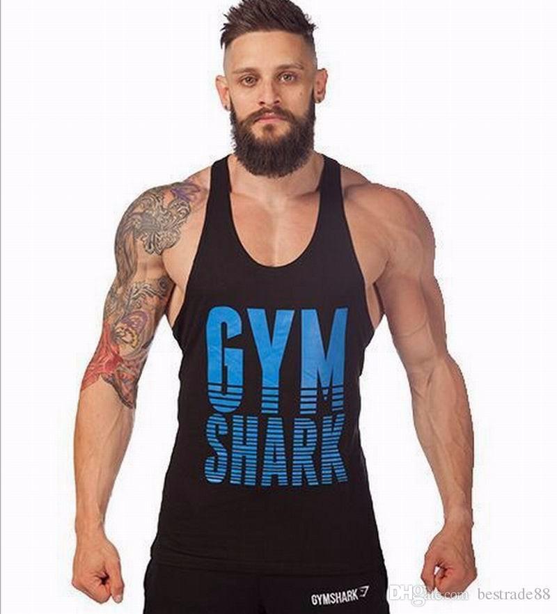 Gym Stringer Tank Top Hommes bodybuilding Vêtements et Fitness Hommes sans manches sport Gilets coton Singlets Muscle Tops # 009