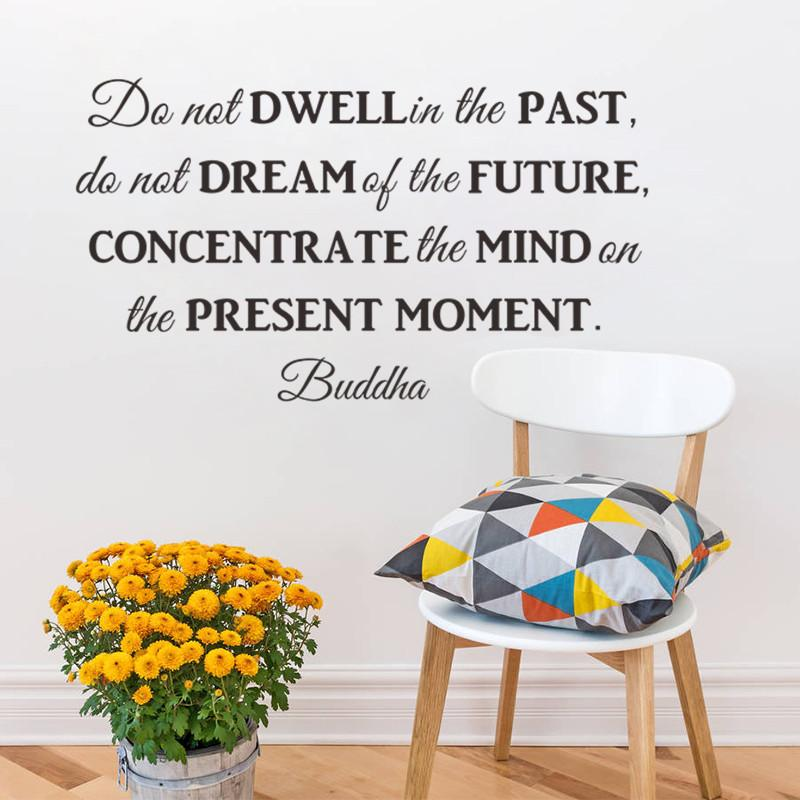 Do Not Dream Of The Future Inspirational Quotes Wall Stickers Decal Living  Room Bedroom School Decoration 8561 Wall Art