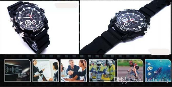 2018 New HD 1080P Camera Watch Night Vision Waterproof Watch Photograph Real Time Clock Watch Round dial