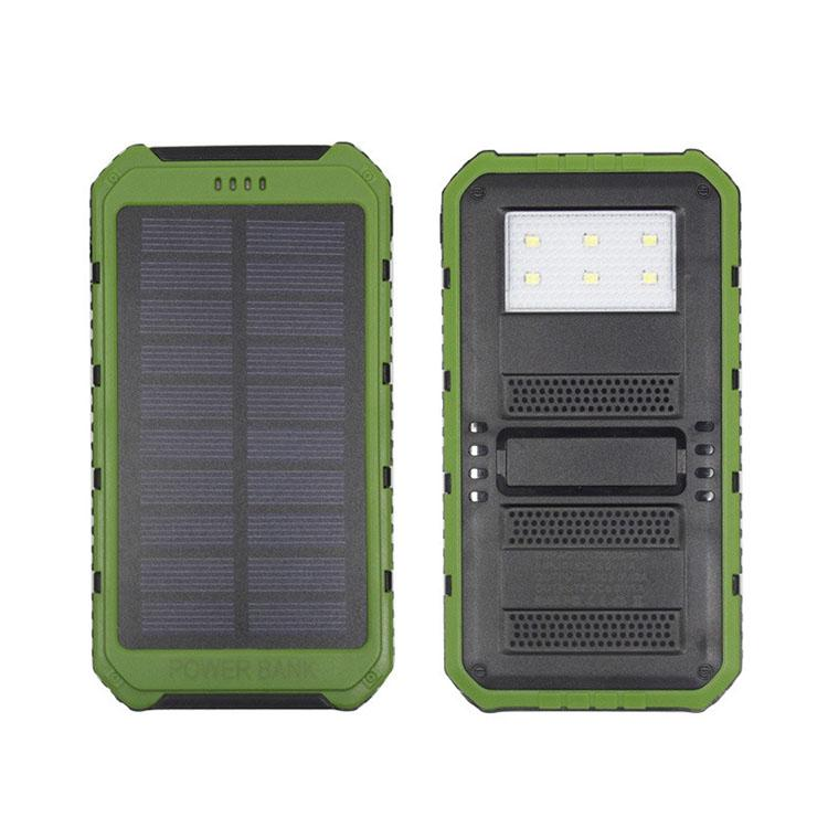 2019-20000mAh solar Power Bank Ultra-thin Highlight LED Solar Power Banks 2A Output Cell Phone Portable Charger Solar Powerbank Free shippi