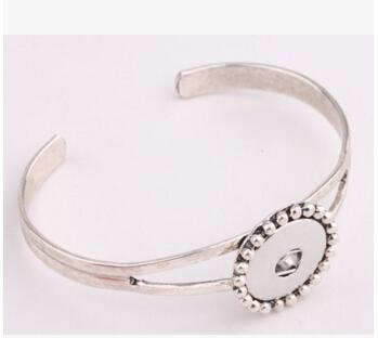 hoja de sol flor de plata 18mm botón a presión accesorios de la joyería de moda pulsera colgante botones de Noosa botón a presión giner botón brazalete de la pulsera