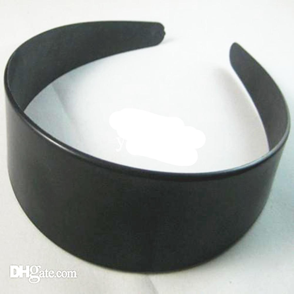 2018 plain sliver plastic headbands hair band 4 cm hair band