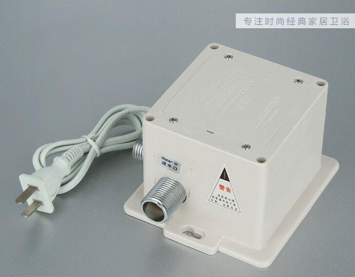 high quality Brass Chrome automatic sensor faucet DC/AC bathroom faucet for hotel school and hospital A-FRD009