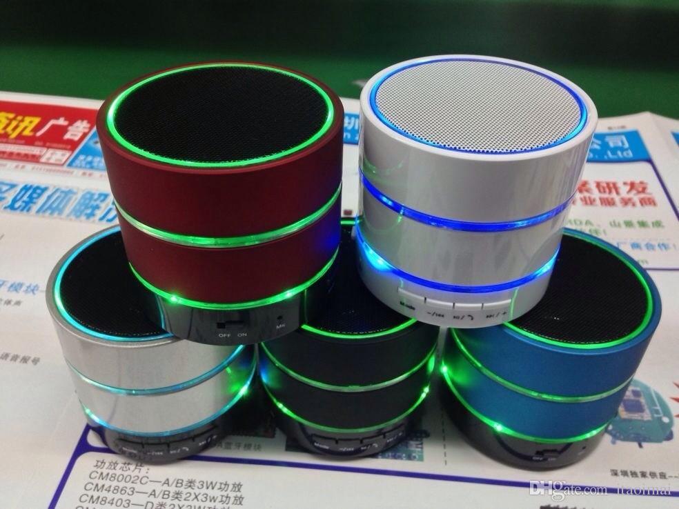 Светодиодный динамик S09 расширенный динамик светодиодные кольцо супер бас металла мини портативный бить Привет-Fi Bluetooth громкой связи 50 шт. Много