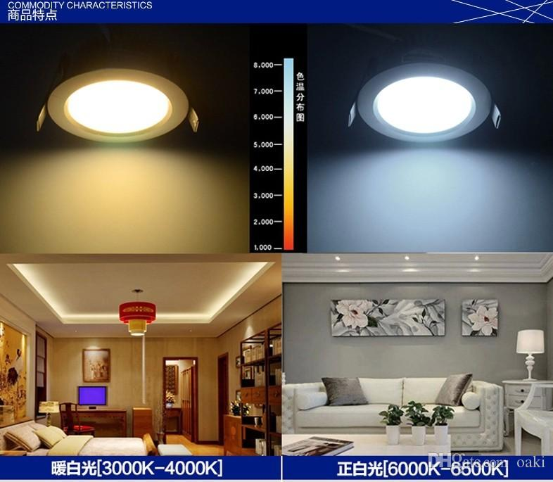 Recessed LED Down Light 12W LED Downlight Dimmable Epistar Chip 100-110LM/W Super Bright Manufacturer Supply