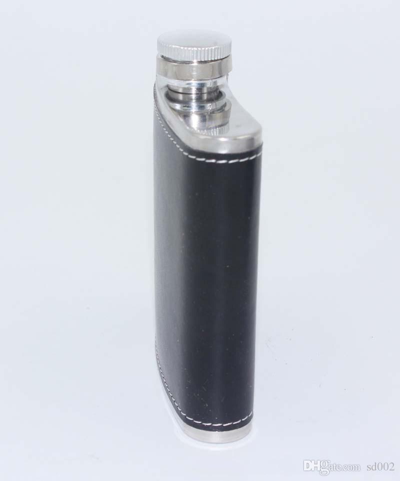 En Cuir Whisky Flagon Leak En Acier Inoxydable 6oz En Acier Inoxydable Hip Flasks Pot À Vin Portable En Plein Air 7 35ls C R