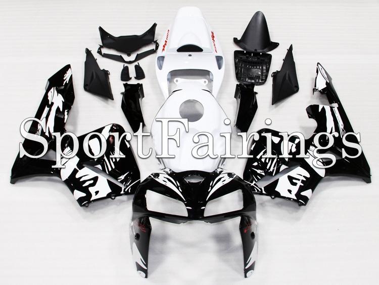 Honda CBR 600 F5 año 05 06 ABS Kit inyección carenado motocicleta Cuerpo Blanco Negro