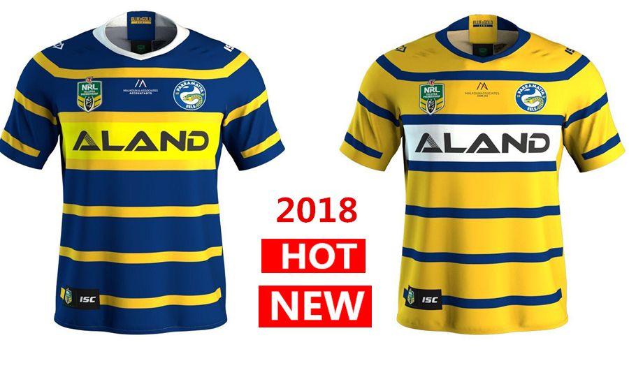 6d6fd436d Parramatta Eels 2018 Home Away Rugby Jerseys NRL National Rugby ...