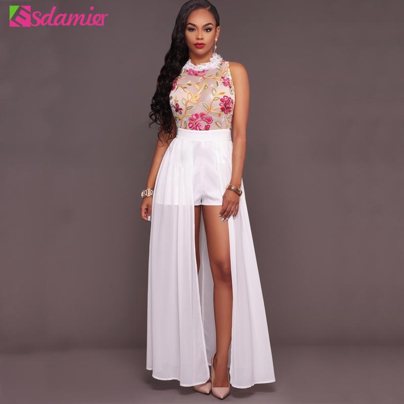 2019 Wholesale New 2017 Womens Sexy High Split Long Dress Off Shoulder  Floral Party Dresses Maxi Chiffon Dress Summer Robe Femme Plus Size From  Charle 5f77981e4b25
