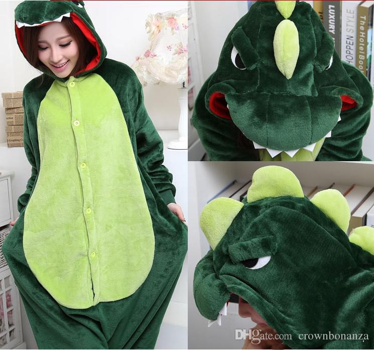 Cazador Dinosaurio Kigurumi Pijamas Trajes de animales Traje de Cosplay Disfraz de Halloween Traje Adulto Mono de Dibujos Animados Ropa de Dormir de Animales Unisex