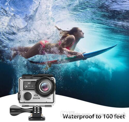 EKEN H6S Native 4K Full-Time EIS Ultra HD Action Sports Camera WIFI HDMI Dual screen 170 Wide Angle remote control waterproof DV