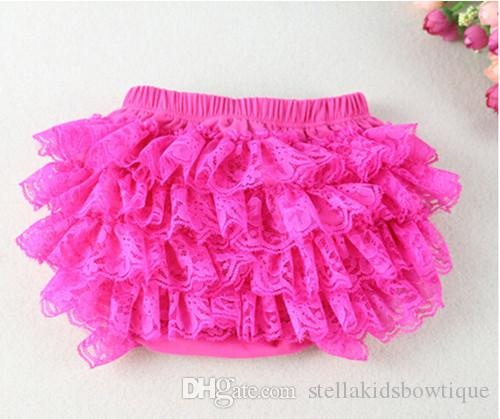 Hot Sale Girls Bloomer Soft Cotton Baby Bloomer Lace Ruffle Diaper Cover For Kids