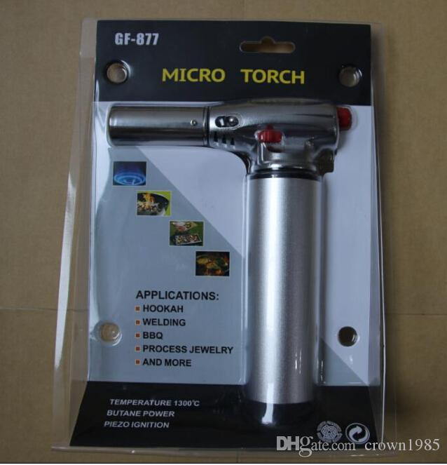 new 1300C Butane Scorch torch jet flame lighter kitchen torch Giant Heavy Duty Butane Refillable Micro Culinary Torch Self-igniting