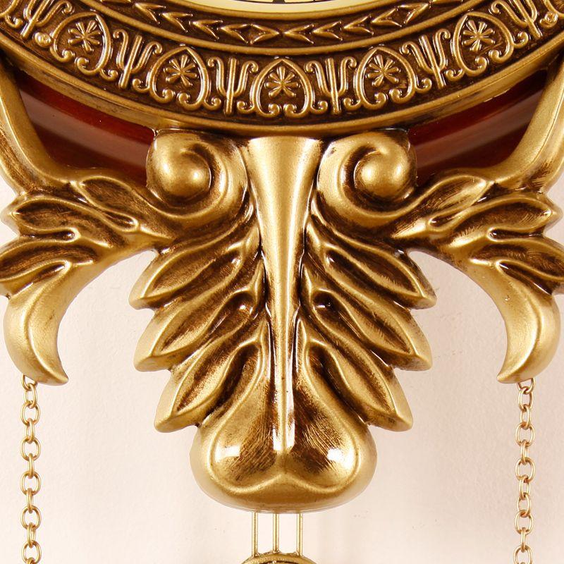 진자와 빈티지 나무 벽 시계 골동품 스타일 206metal 접시 0201007
