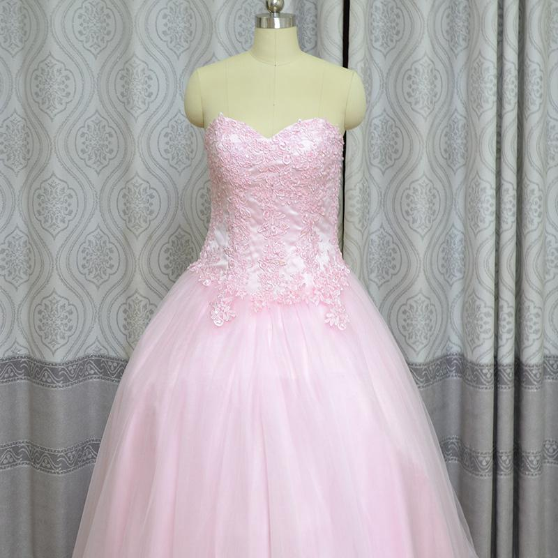 Réel Photo Robe De Bal Chérie Rose Robes De 15 Anos Occasion Robes Femmes Laday Robes De Quinceanera 2018