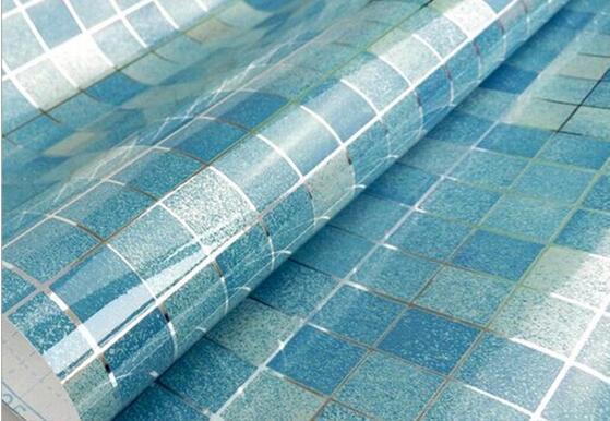 Mode Hot Anti Öl Tapete Mosaik Grau Aluminiumfolie für Küche Hochtemperaturbeständige Bad Wasserdichte Tapete