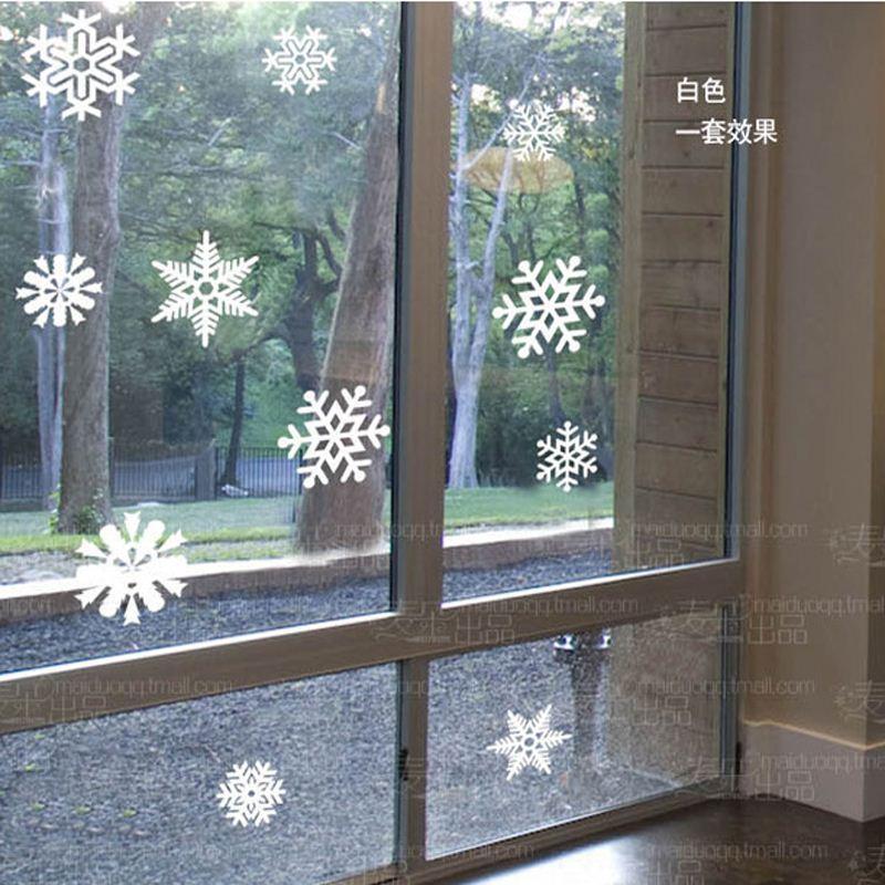Großhandel Kostenloser Versand Schneeflocke Fensterglas Aufkleber ...