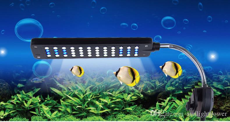 Heißer Verkauf DC12V 3.5W 48LED Aquarium Licht Lampe für Korallenriff Wassertiere EU Aquarium
