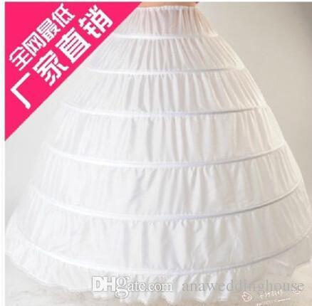 2017 pas cher jupons robe de bal pour les robes de mariage élastique 6 cerceaux une rangée robe jupon crinoline accessoires de mariage En stock