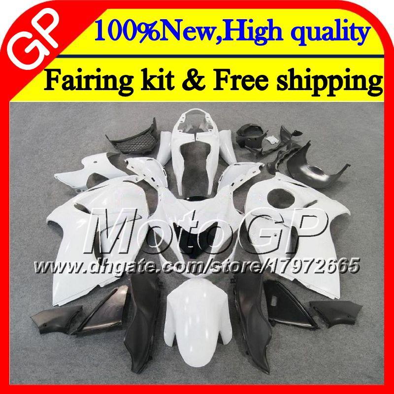 Karosserie für SUZUKI Hayabusa GSXR1300 08 09 10 11 42GP28 GSX R1300 glänzend weiß 12 13 14 15 GSXR 1300 2012 2013 2014 2015 Motorrad Verkleidung