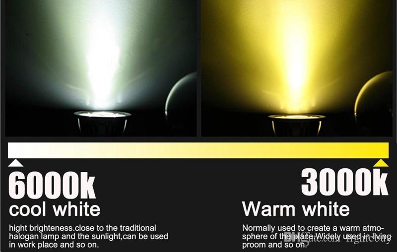 La venta caliente llevó el proyector GU10 3w / 9w / 12w / 15W llevó las lámparas 110-240v de los bulbos llevó el blanco caliente / fresco del relámpago