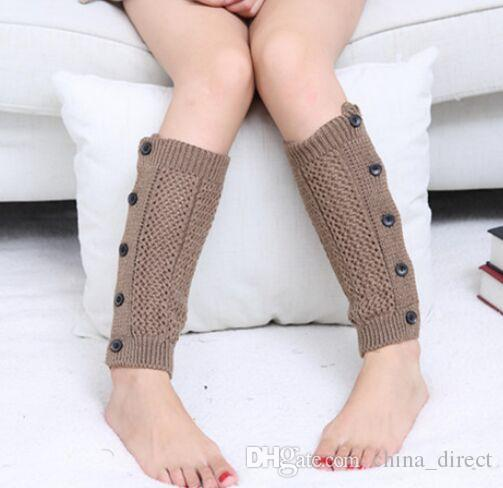 2015 Burn out button down Crochet Knit Leg Warmers Boot Cuffs Toppers Boot Socks #3910