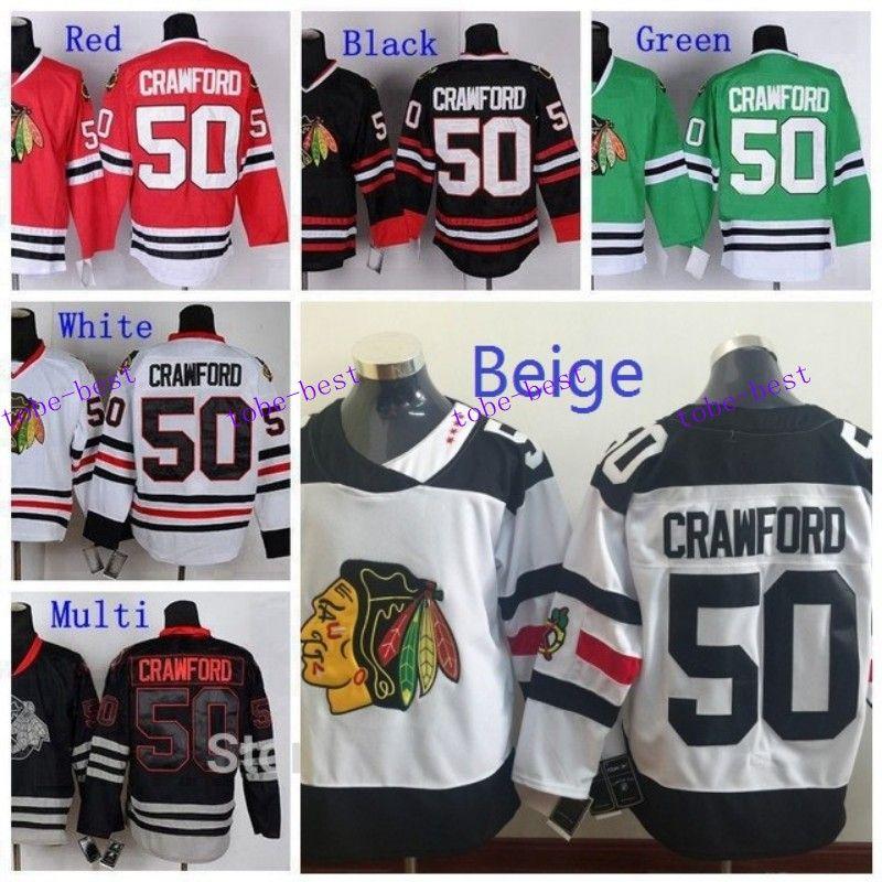 ... Best Quality 2016 Stadium Series MenS Chicago Blackhawks 50 Corey  Crawford Jersey Red White Black Green ... fb1c3279e