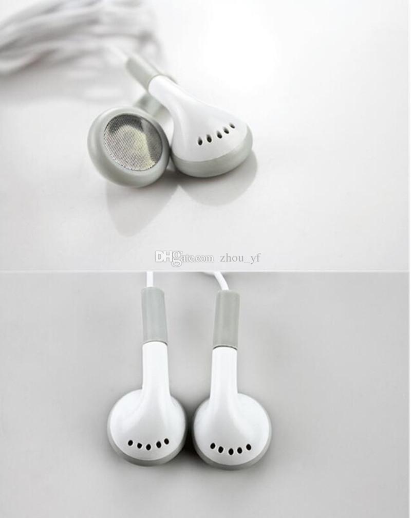 Desechables auriculares blancos simples auriculares auriculares para iPhone 6 6s 6plus plus 5 5s 4 4s 3G 3Gs iPod MP3 MP4 para regalo de concierto para iphone