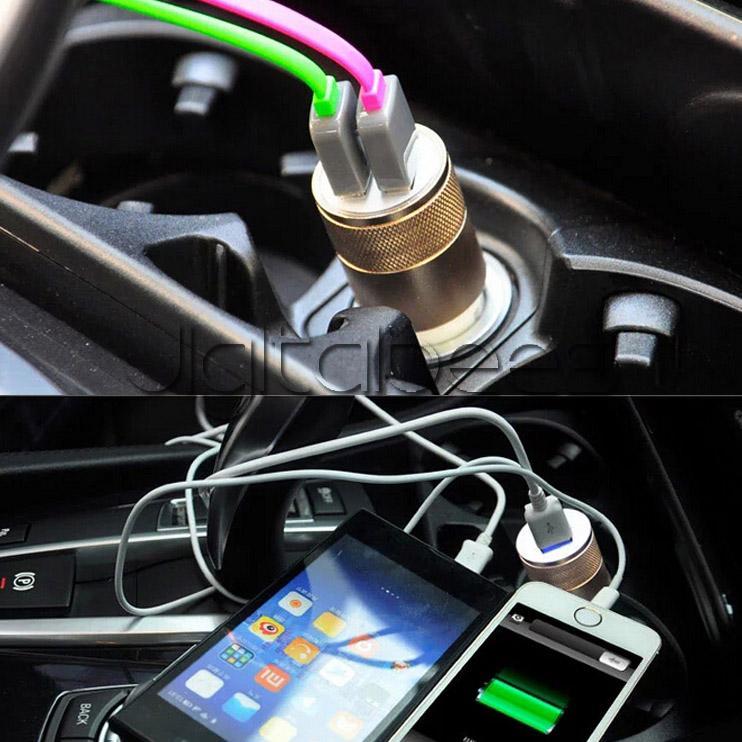 Мини-пушка автомобильное зарядное устройство 2 usb 1A зарядные устройства Micro Dual USB адаптер Флэш-ниппель Dual USB портативный для Iphone автомобильное зарядное устройство Samsung