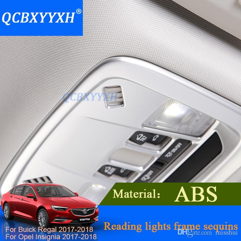 Qcbxyxh تصفيف السيارة الداخلية abs القراءة ضوء الإطار الترتر ضوء القراءة الخلفية الترتر ل بويك ريغال أوبل شارة 2017 2018