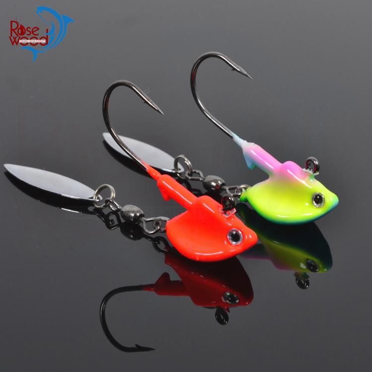 Hot sale roadrunner jig heads fishing jigging lure with for Cheap fishing spinners