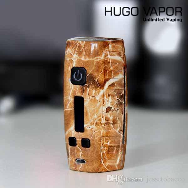 Hugo Vapor Boxin DNA 75W Box Mod Powered By Dual 18650 Batteries DNA75 Electronic Cigarette Vape Vaporizer TC