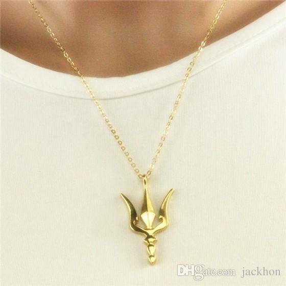 - N061 Poseidon Trident Necklace Neptune Greek Spear Necklace Trishul Ukraine Symbol Necklace Weapon Lance Necklaces