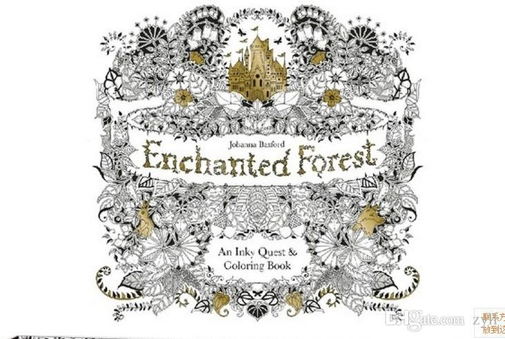 Enchanted Forest An Inky Treasure Hunt And Coloring Book For
