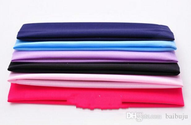Wholesale-2016 Yoga elastic hair towel wide hair with sports outdoor travel Body Building wash headband multi-color optional