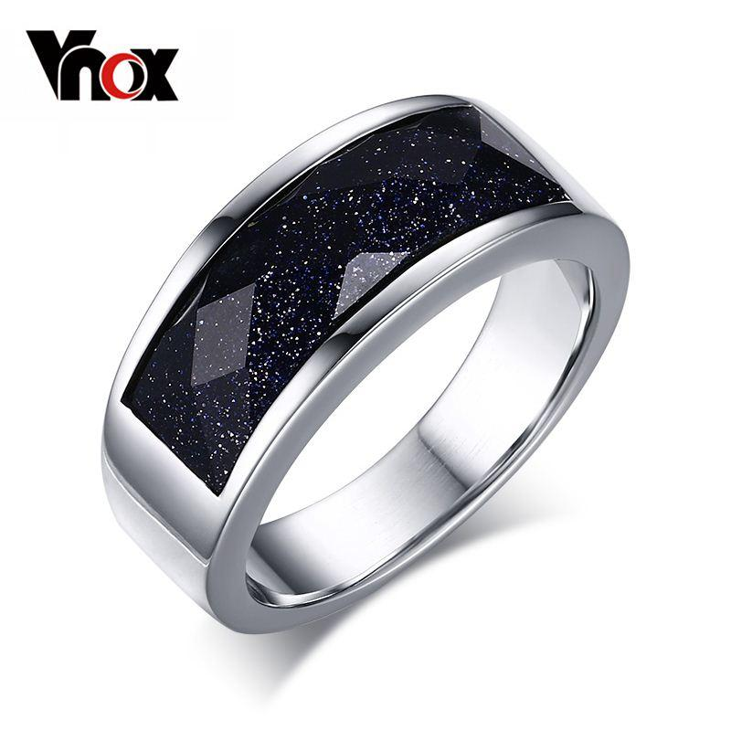 Online Cheap High Quatity Dark Blue Sand Stone Silver Color Men ...