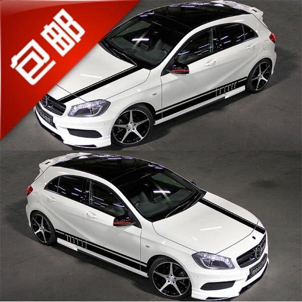 Mercedes benz a class car stickers a180 a200 a260 for A mercedes benz product sticker