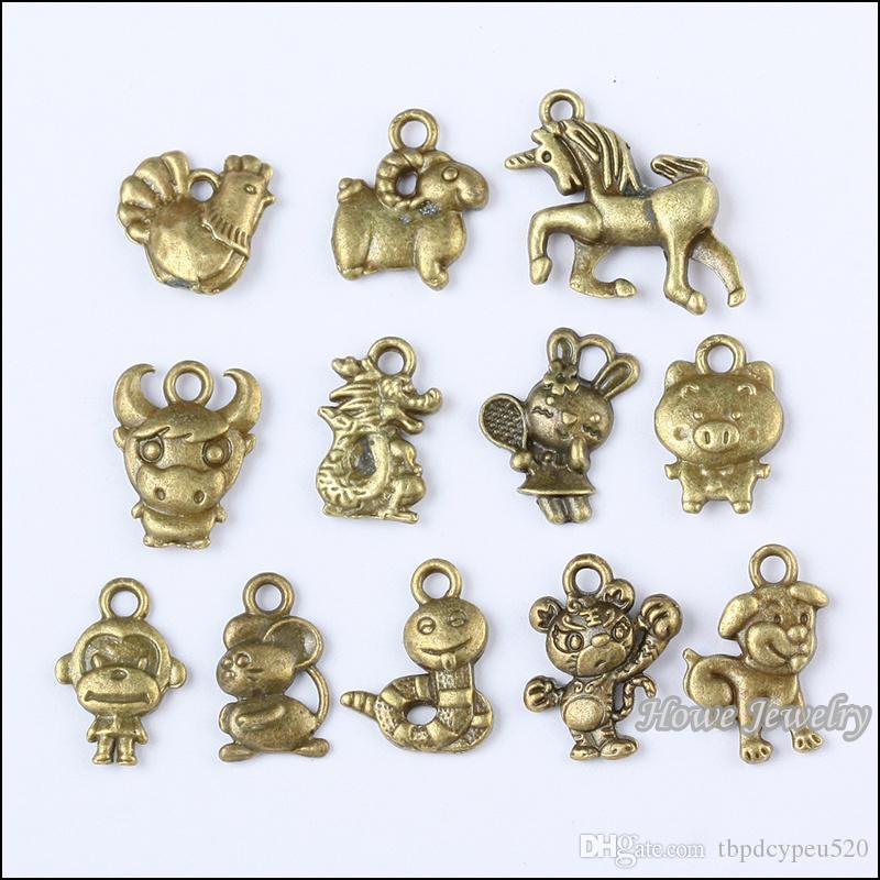 Asian Motifs Copper Lot of Charms Vintage Buddhist Charms Shinto Mixed Metal Necklace or DIY Jewelry Four Metal Charm Pieces