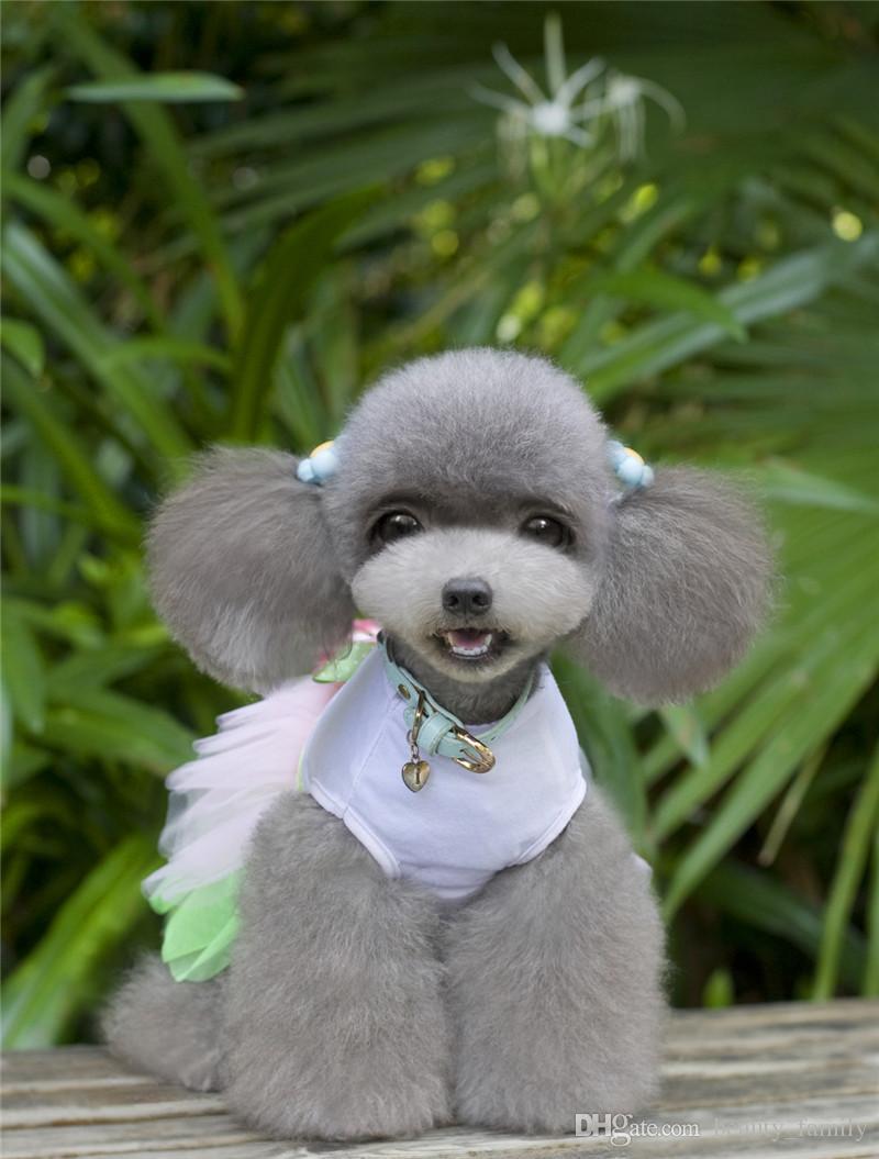 B11 cão verão doce vestido de saia - linda girassol design verão cão roupas doce verão pet dress para menina pet baby