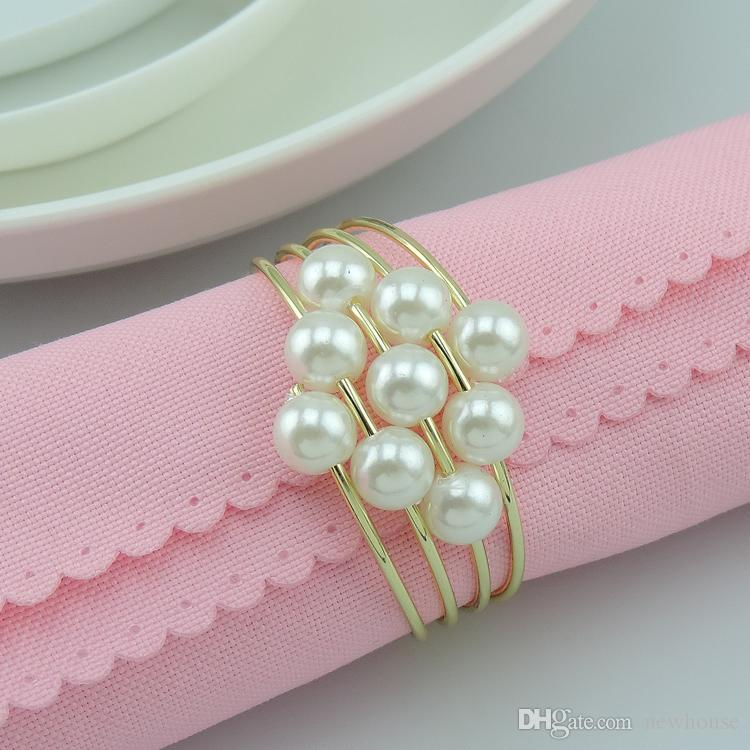 2015 pearls metal napkin rings hotel wedding supplies table 2015 pearls metal napkin rings hotel wedding supplies table decoration accessories wholesale new arrival christmas decorations napkin rings christmas junglespirit Image collections